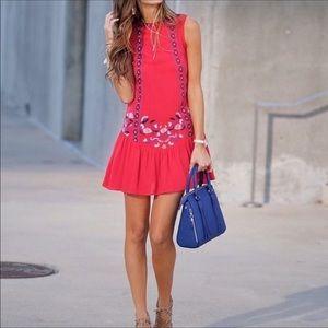 Red Embroidery Boho Dress Xhiliration Target